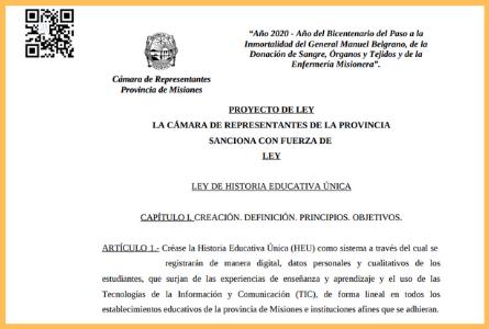 Proyecto de Ley de Historia Educativa Única