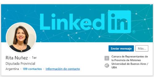 Rita Nuñez en Linkedin